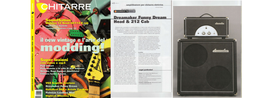 News dreamaker amps for Chitarre magazine