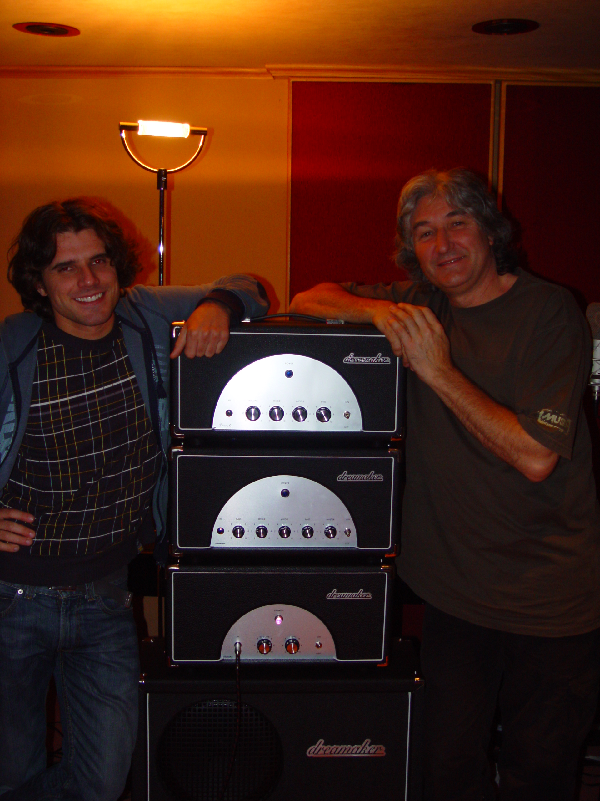 Me and Phil Palmer at Renato Zero studio 2008